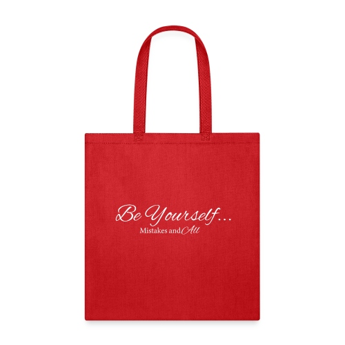 Be Yourself Tee white letters - Tote Bag