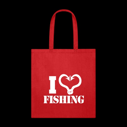 02 I heart fishing copy - Tote Bag