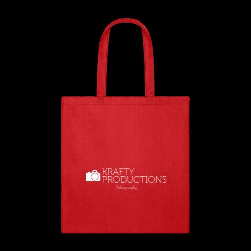 White Krafty Productions Logo - Tote Bag