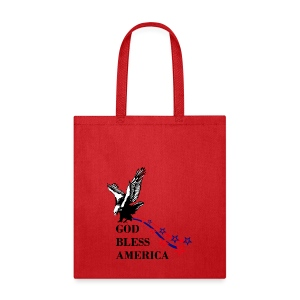 CUSTOM DESIGN GOD BLESS AMERICA - Tote Bag