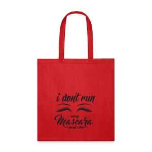 idontrun mascara blk3 - Tote Bag