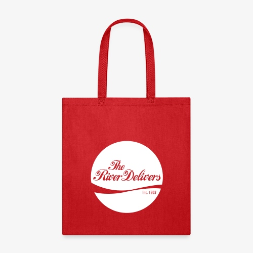 The River Delivers in White - Tote Bag