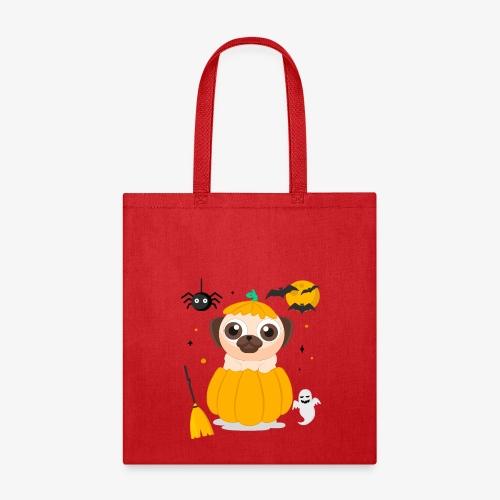 I love Halloween Pug Dog T-Shirt - Tote Bag