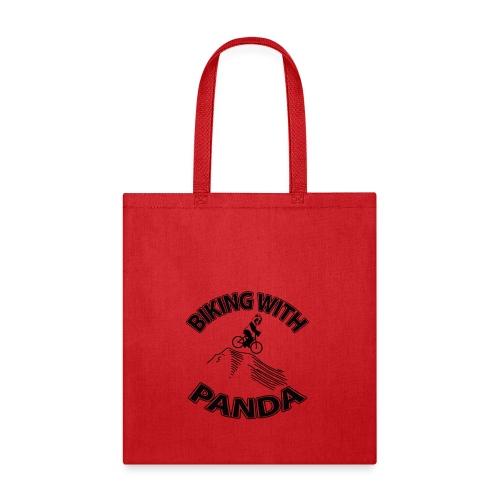 Biking with Panda - Tote Bag