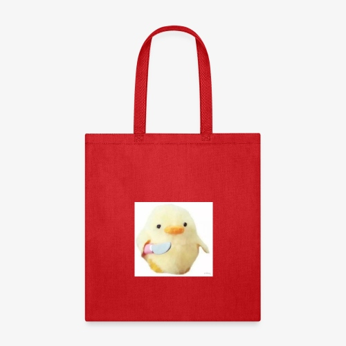 Cute Chicken with Knife Shirt! - Tote Bag