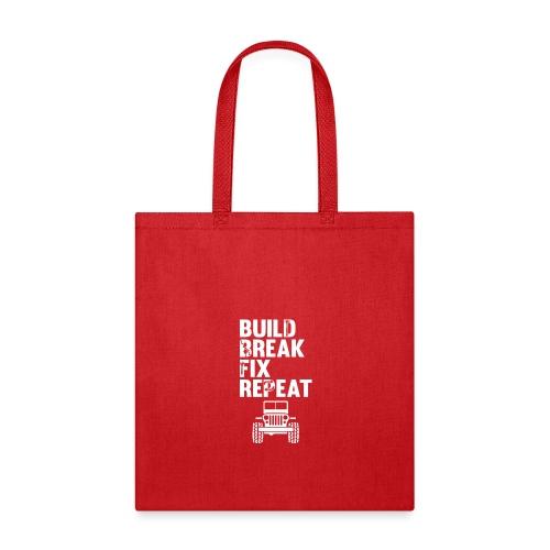 Build Break Fix Repeat Monster Lifted Mudding Truc - Tote Bag