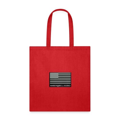 Grey American flag amber@bellissimobeautybar - Tote Bag