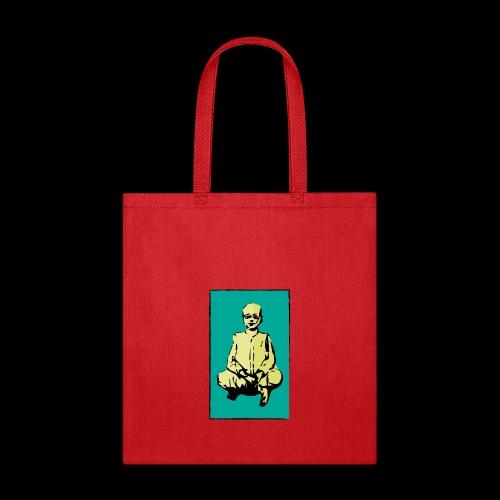 man sitting - Tote Bag