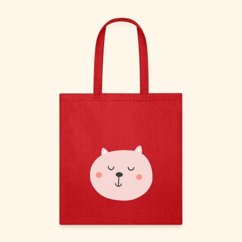 Cute Pink cat - Tote Bag