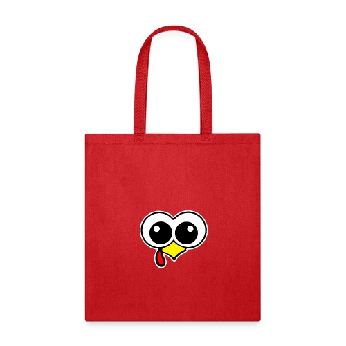 Funny Turkey Face - Thanksgiving Day Gobble Wobble - Tote Bag