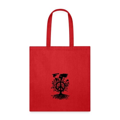 WORLD ROUND PEACE TREE - Tote Bag
