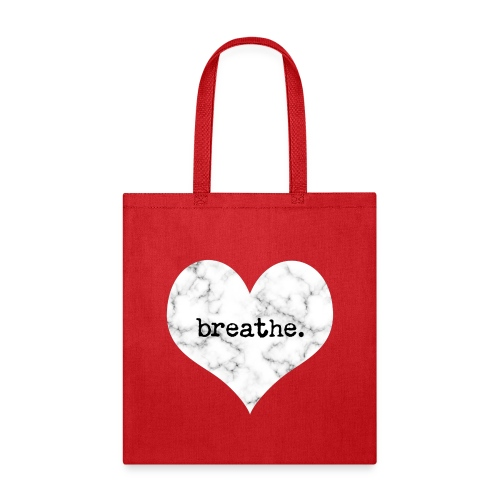Breathe Heart (Marble) - Tote Bag