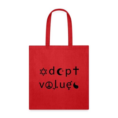 Adopt Values / Tolerance Parody / Coexist Parody - Tote Bag