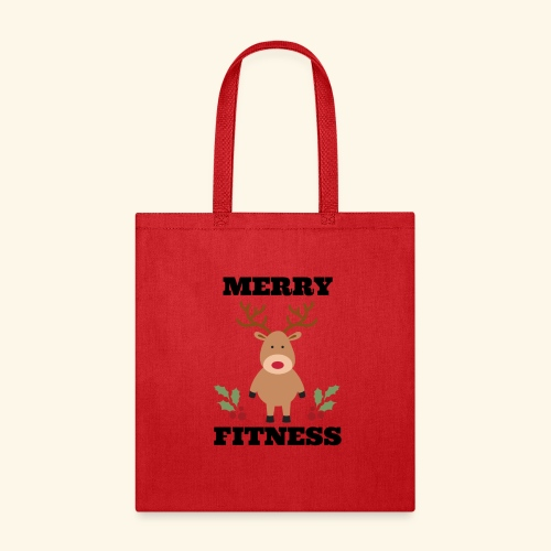 merry fitness Christmas Tee - Tote Bag