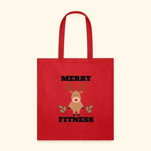 merry fitness Christmas Tee - Tote Bag