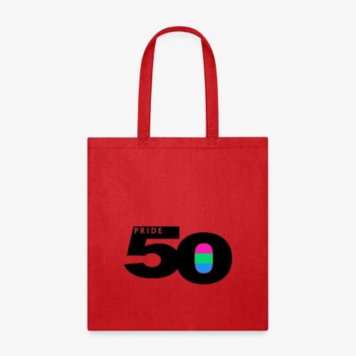 50 Pride Polysexual Pride Flag - Tote Bag