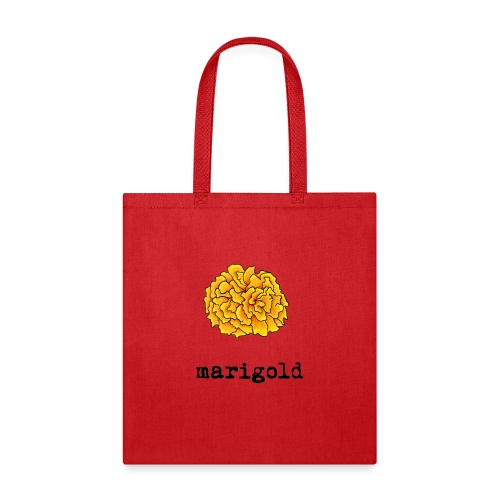 Marigold (black text) - Tote Bag