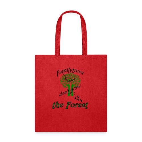 genealogy family tree forest funny birthday gift - Tote Bag