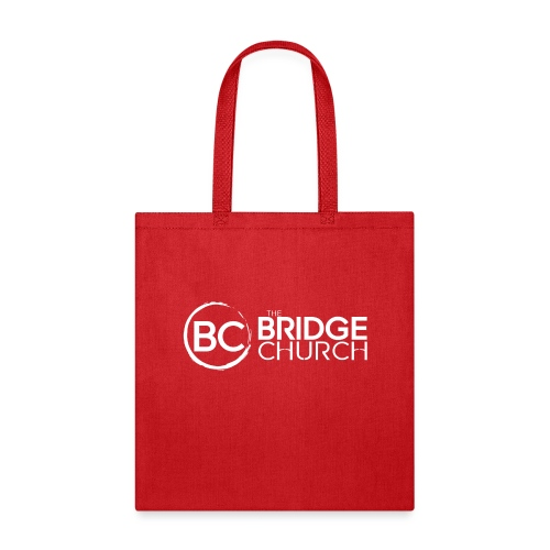 Finalized Bridge Church Logo White Sideways - Tote Bag