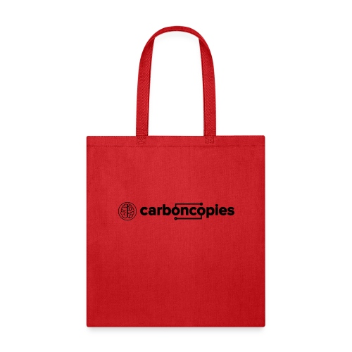 Carboncopies Graphic + Text Logo (black printing) - Tote Bag