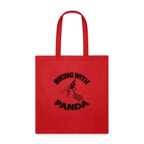Biking with Panda - Tote Bag