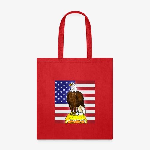 Patriotic Bald Eagle Dumps on Trump - Tote Bag