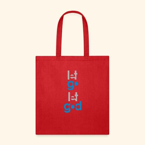 LET GO LET GOD GREY/BLUE #7 - Tote Bag