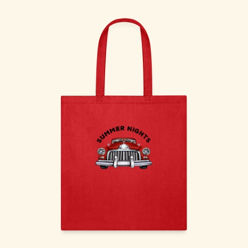 car show summer nights Design - Tote Bag