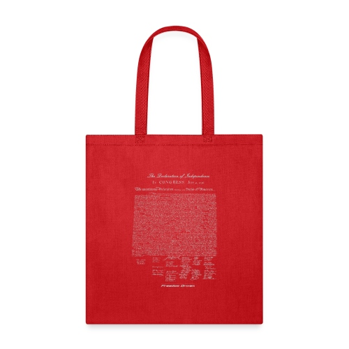 Declaration of Independence Grey Lettering - Tote Bag