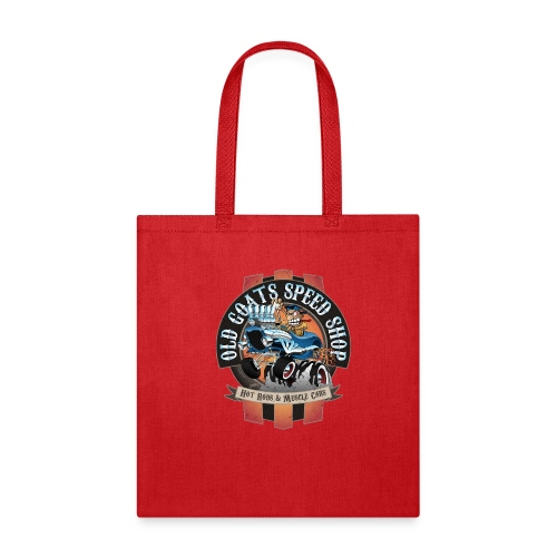 Old Goats Speed Shop Vintage Car Sign Cartoon - Tote Bag