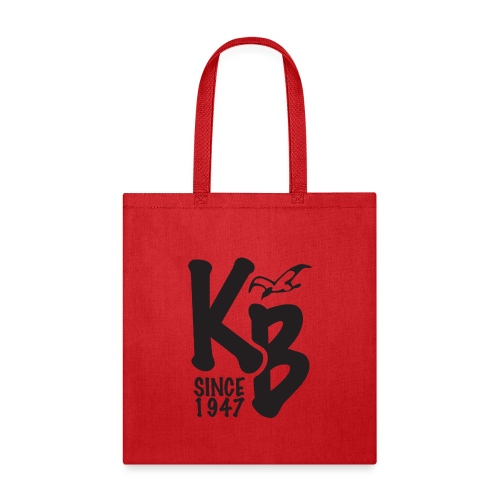 Kure Beach Day-Black Lettering-Front and Back - Tote Bag