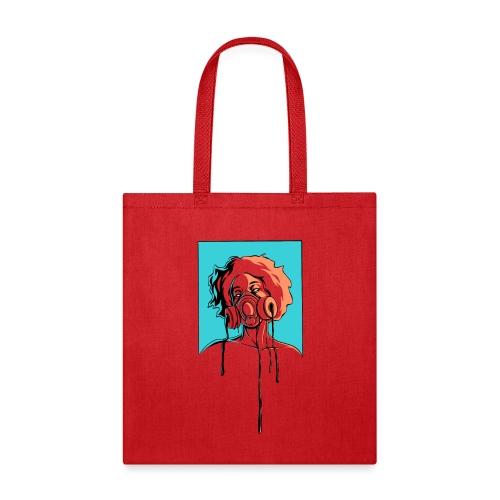 Toxic: aqua, orange - Tote Bag