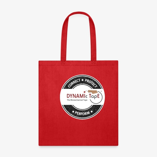 Dynamic Tape Correct-Protect-Perform White circle - Tote Bag