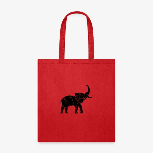 Lowpoly lephant - Tote Bag