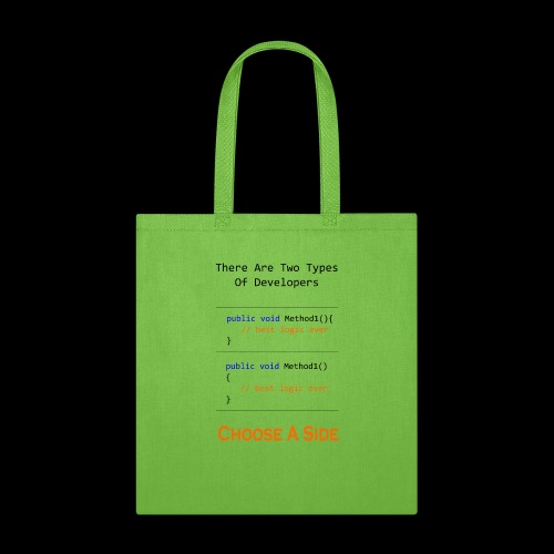 Code Styling Preference Shirt - Tote Bag