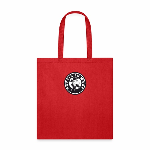 Solid Puttin' In Work Logo - Tote Bag