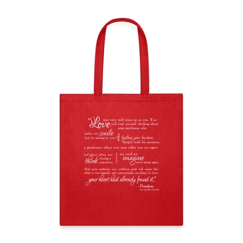 PersephoneQuoteWhite png - Tote Bag
