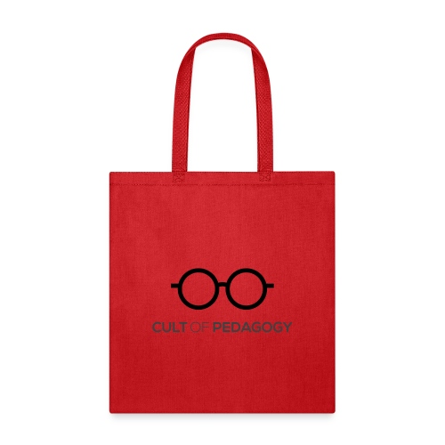Cult of Pedagogy (black text) - Tote Bag
