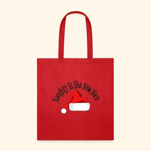Naughty Is The New Nice Santa Hat Design - Tote Bag