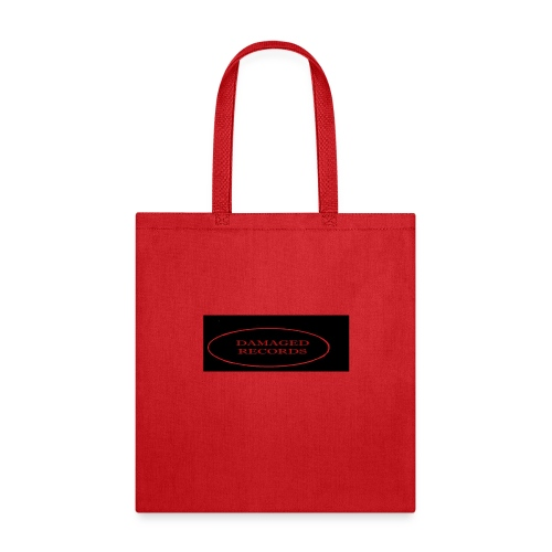 Damaged Records Red And Black Logo Sticker Hoodies - Tote Bag