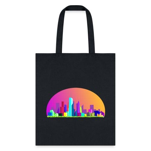 Summer evening city skyline - Tote Bag