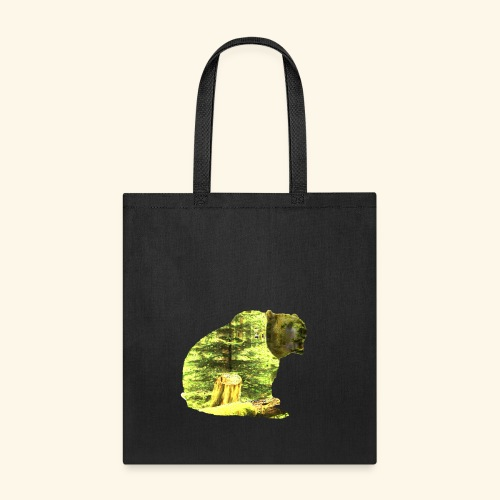 Bear isolated in the woods - Tote Bag