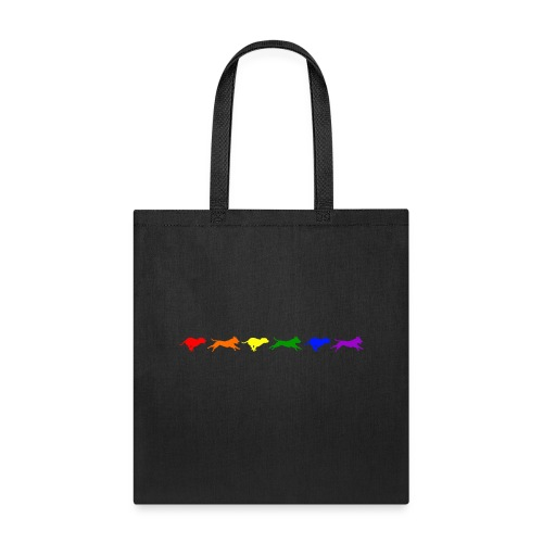 Staffy in Motion- Rainbow - Tote Bag