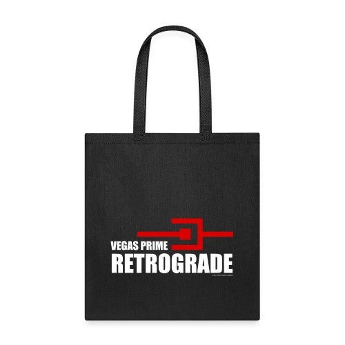 Vegas Prime Retrograde - Title and Hack Symbol - Tote Bag