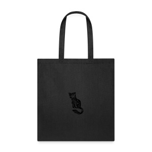 elegant-cat-with-bird-tattoo-design-5 - Tote Bag