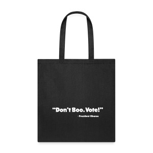 Dont_Boo_Vote_White_Trans_BG - Tote Bag
