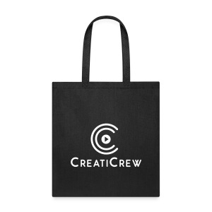 CreatiCrew Logo w/ Text (Blue) - Tote Bag