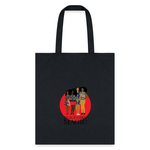 Red Pink Black girl Magic Design 2 - Tote Bag