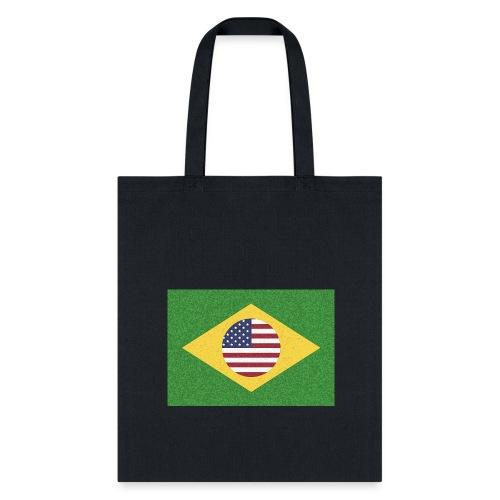 Brazil and USA Flag - Tote Bag