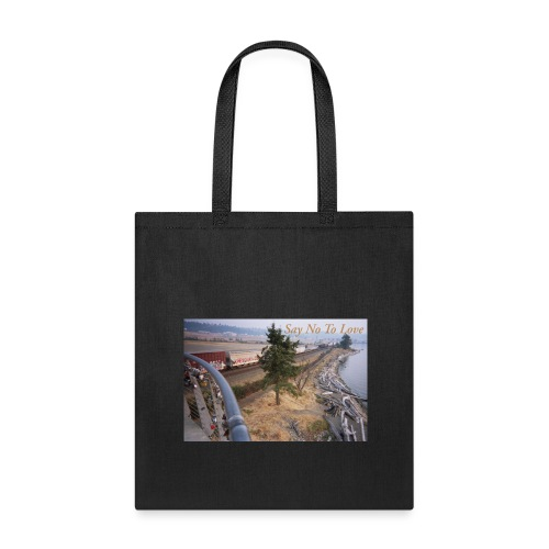 Abandoned Railroad Say Not To Love Film Photograph - Tote Bag